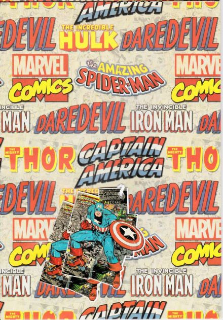 Marvel Comics Gift Wrap and Tags